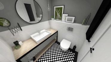 łazienka z mozaiką Winckelmans