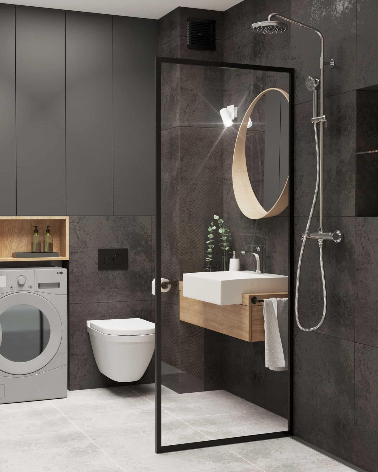 łazienka z prysznicem walk in